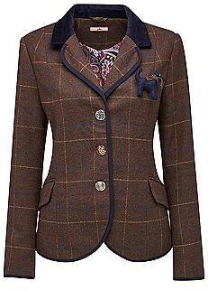 Vintage tweed mantel