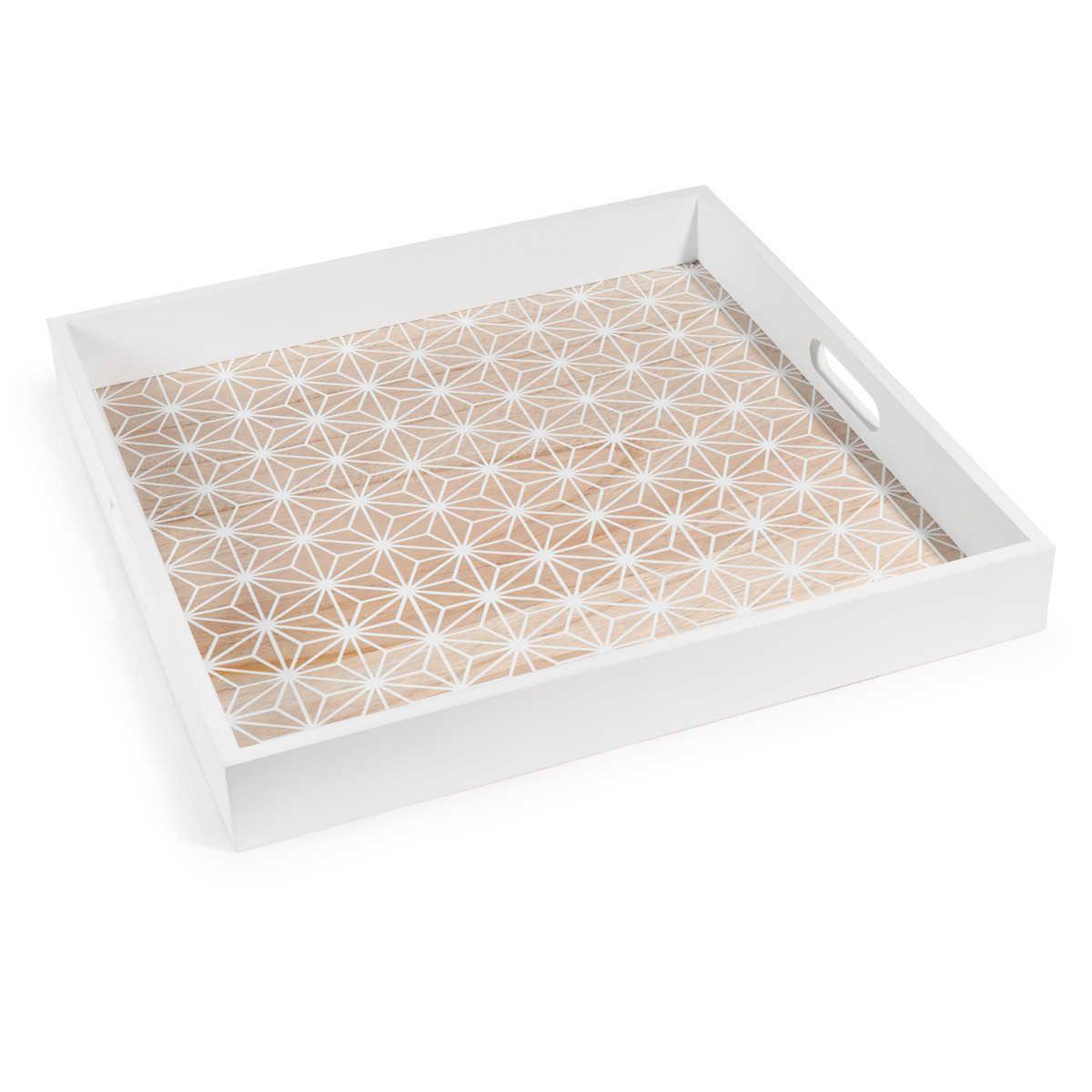 menaje de mesa en 2019 house home decoration white wooden tray white tray et tray. Black Bedroom Furniture Sets. Home Design Ideas
