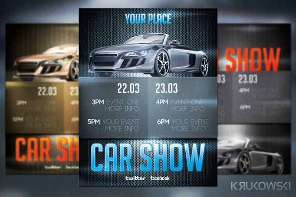 Check Out Car Show Flyer By Krukowski On Creative Market