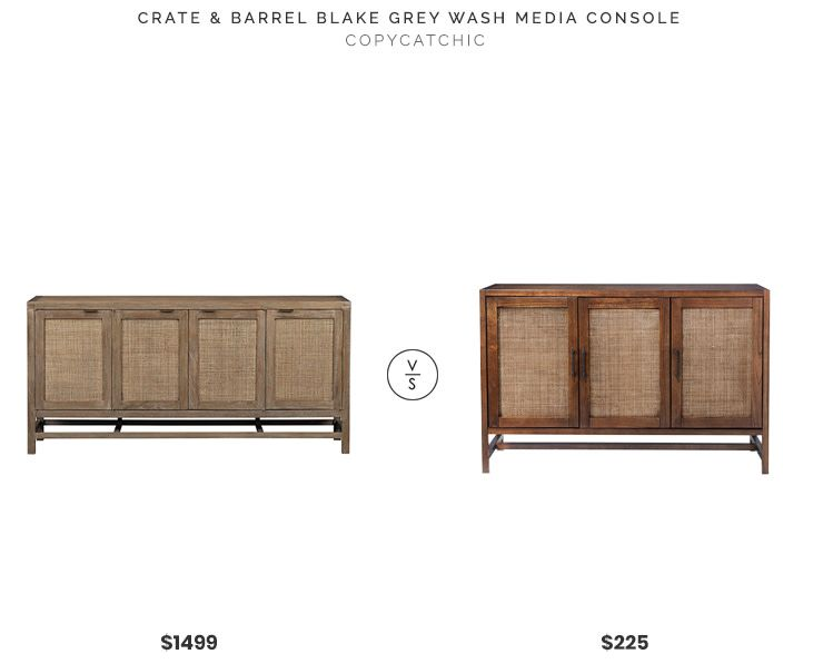 huge discount 438b5 a0c0e Crate & Barrel Blake Grey Wash Media Console $1499 vs Target ...