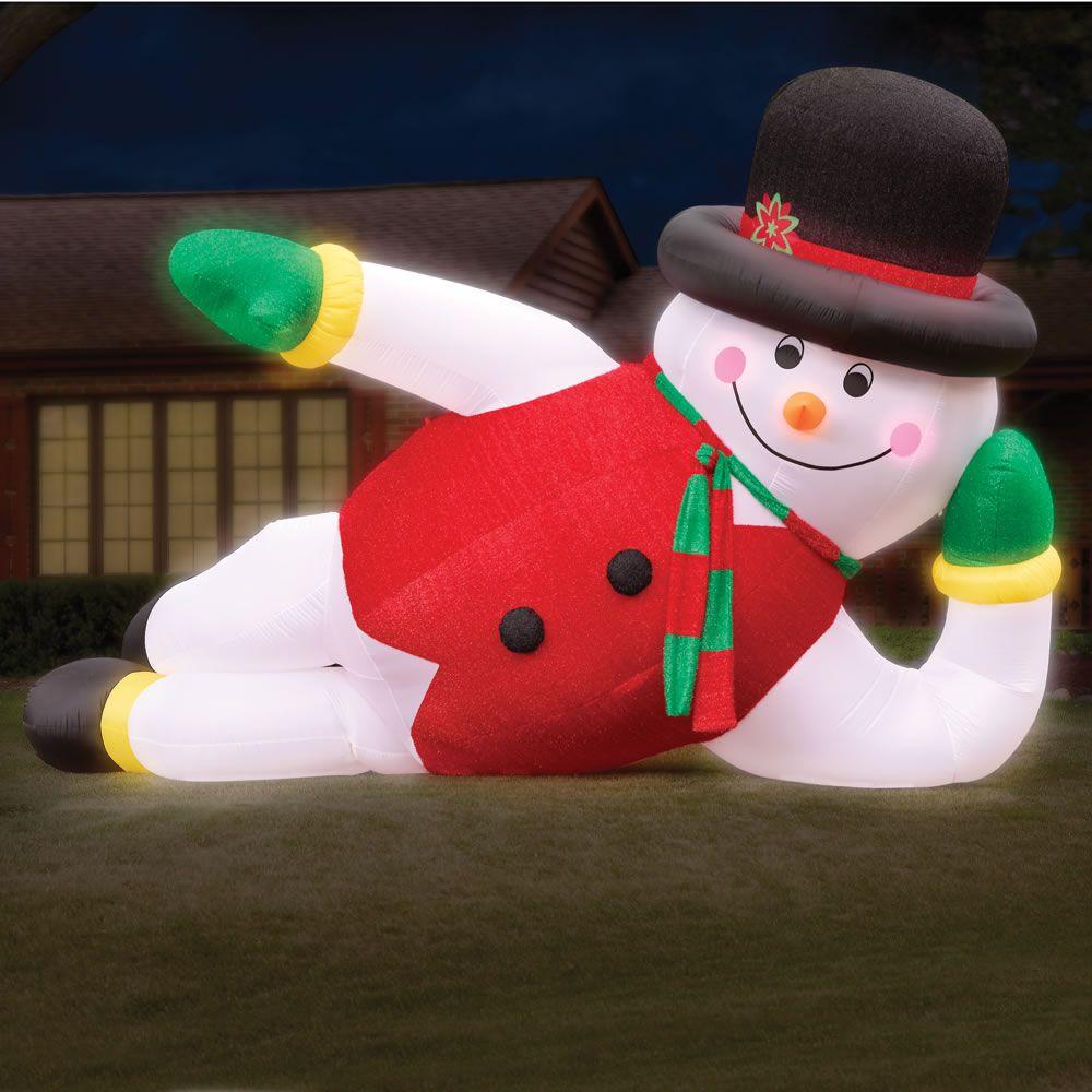 The 20 Inflatable Snowman Hammacher Schlemmer
