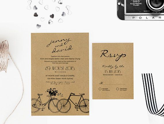 Diy word template wedding invitation stationary set editable word diy word template wedding invitation stationary set editable word template invitation and rsvp stopboris Image collections