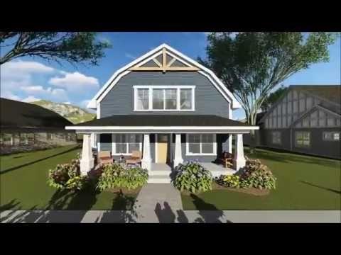 Plan 890051ah 3 Bed House Plan With Gambrel Roof Craftsman House Plans Barn Roof Barn Style House