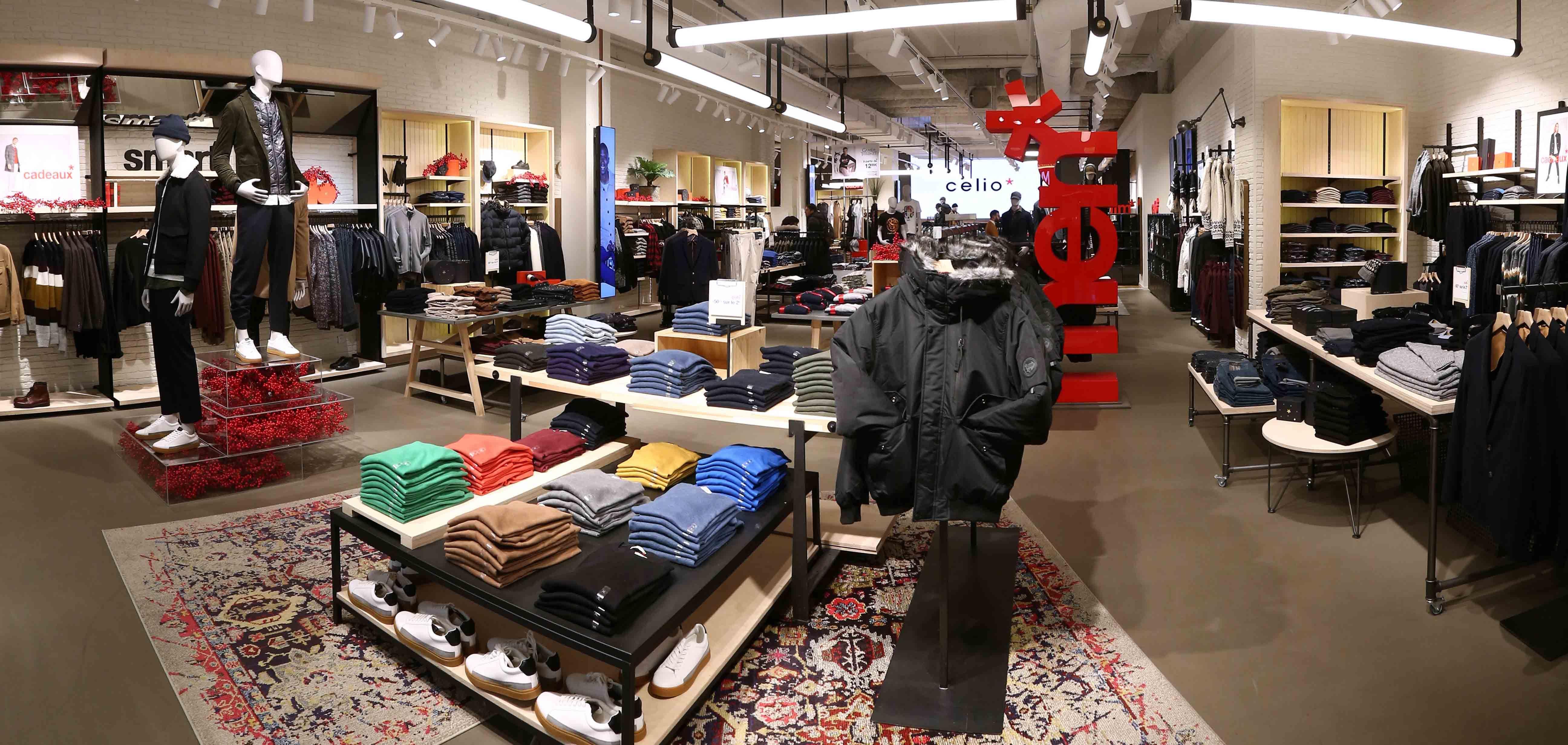 Agencement Et Travaux Tous Corps D Etat Magasin Celio Lyon Part Dieu Pret A Porter Textiles Boutique Vetement