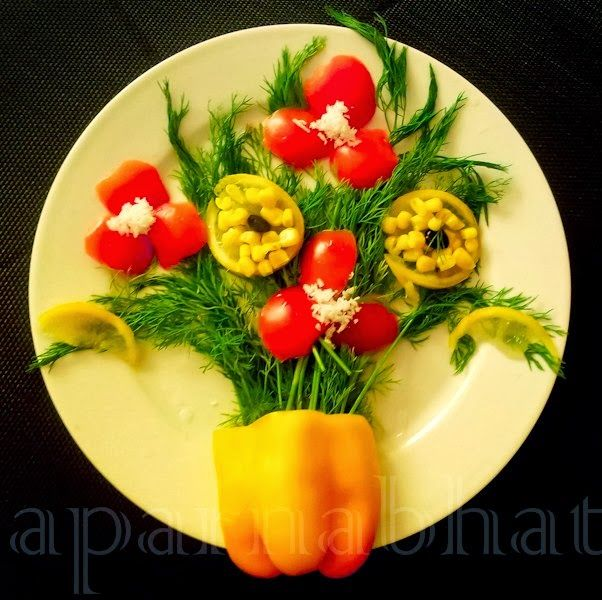 Salad decoration idea recipes to cook pinterest for Art of food decoration
