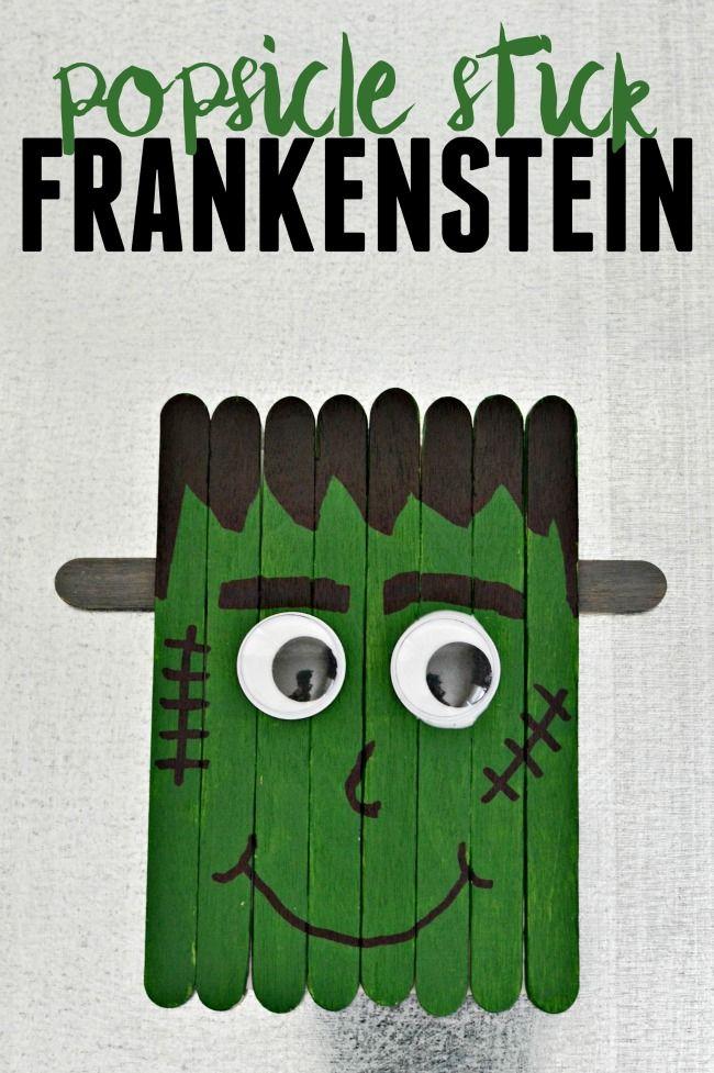 Popsicle Stick Frankenstein Craft Halloween Arts Crafts