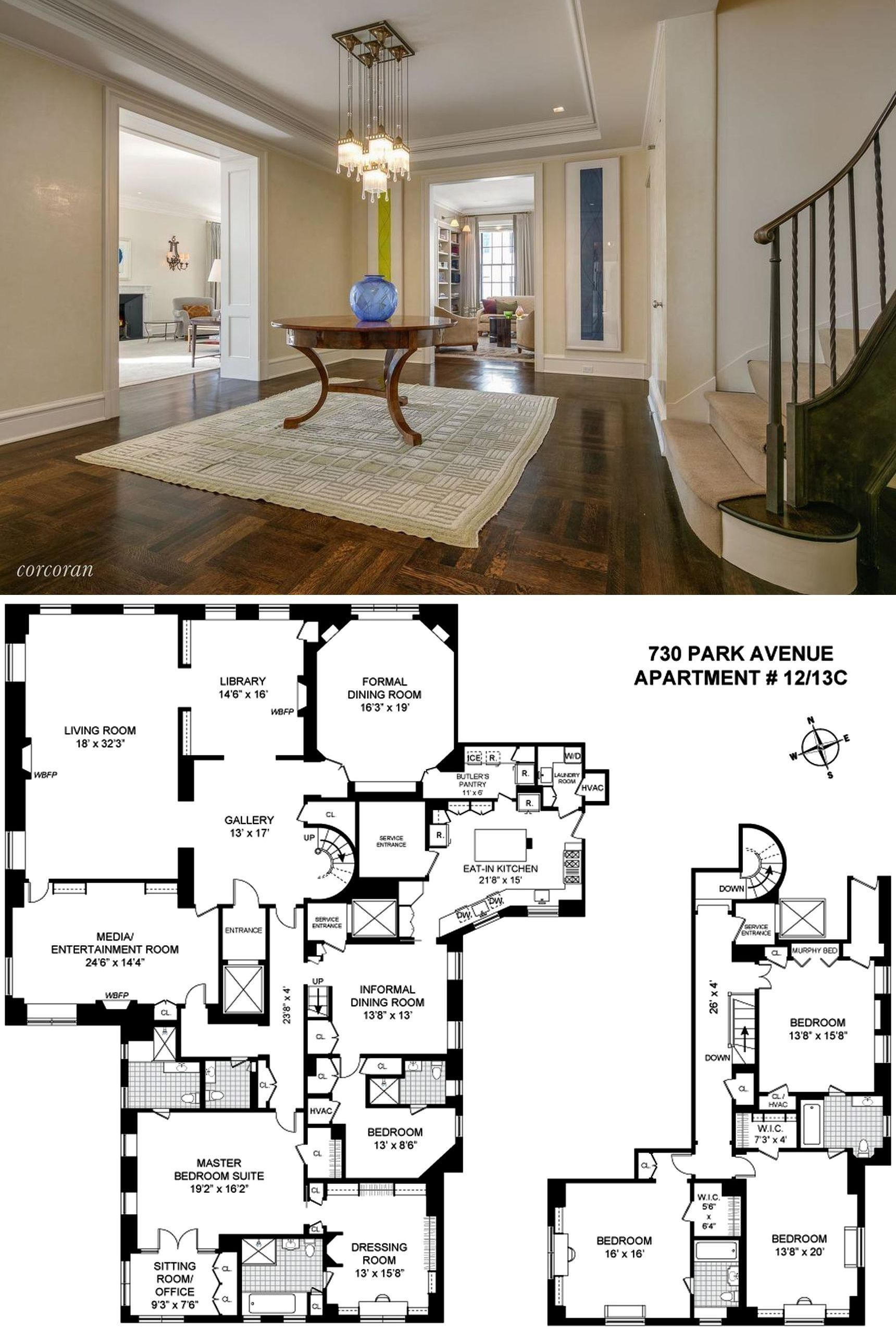 Upper East Side Homes For Sale 22m Park Avenue Duplex Hits The Market Curbed Ny Penthouse Apartment Floor Plan Apartment Floor Plans Apartment Plans