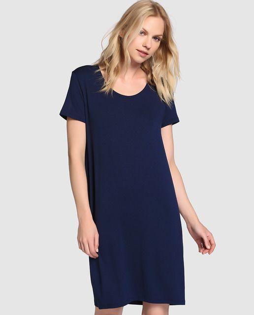 b53f3ef56 Vestido de mujer Guitare en color azul con cremallera en espalda ...