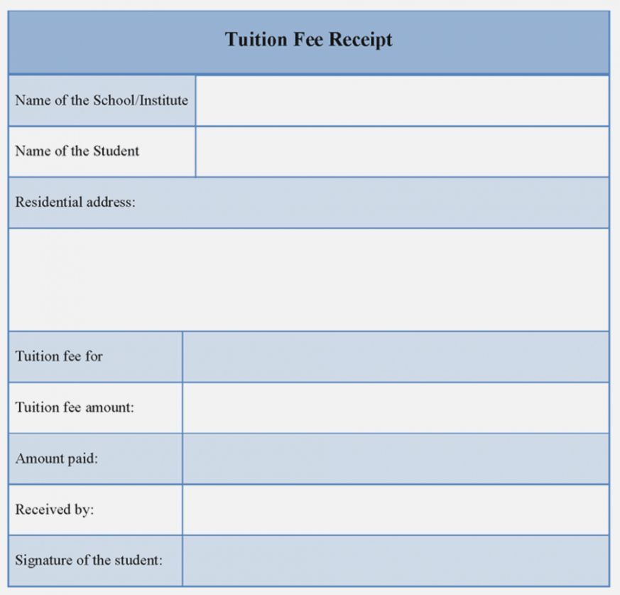 Explore Our Free School Fee Receipt Template School Fees Receipt Template Receipt