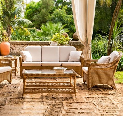 looms rattan gartenm bel pforzheim korbsofa arena outdoor living looms pinterest. Black Bedroom Furniture Sets. Home Design Ideas