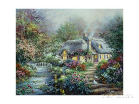 Little River Cottage Giclee Print by Nicky Boehme at AllPosters.com