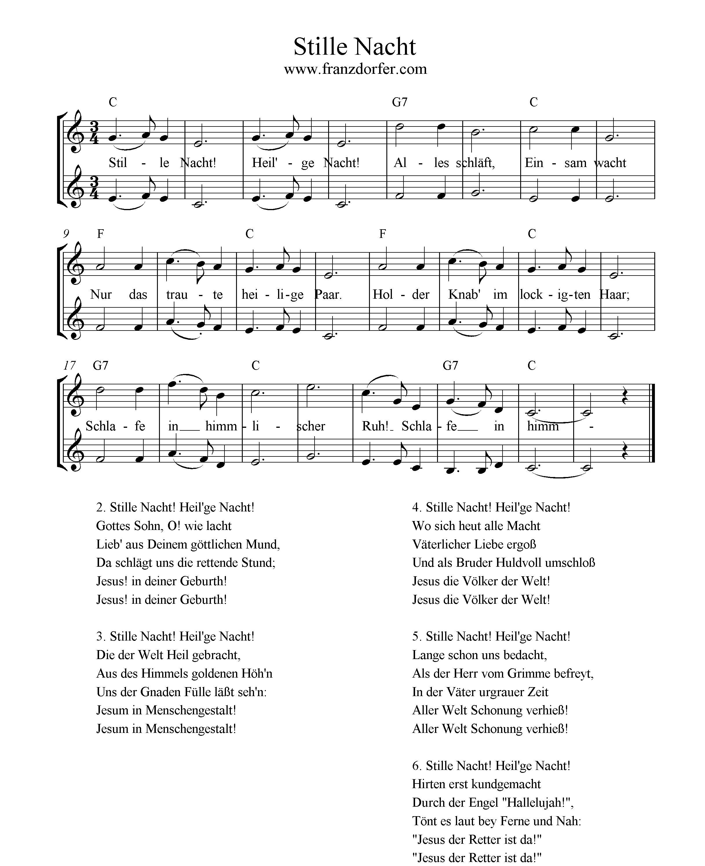 Text Stille Nacht Heilige Nacht