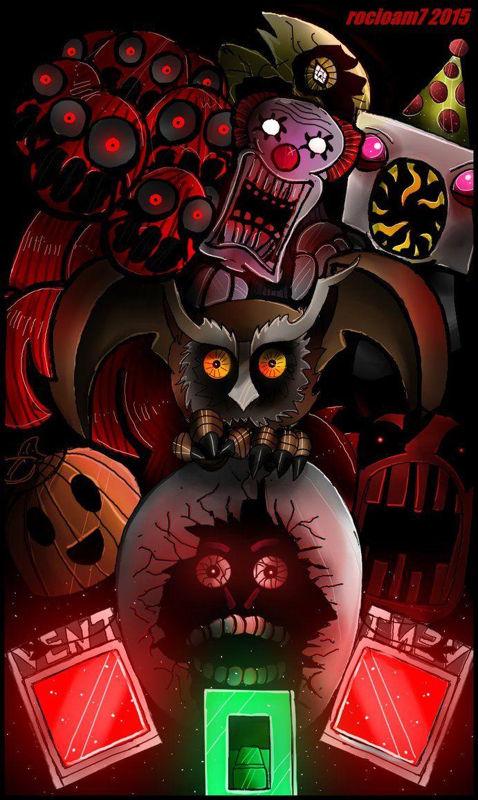 One Night At Flumpty S 2 By Rocioam7 Deviantart Com On Deviantart Fnaf Art First Night Horror Game