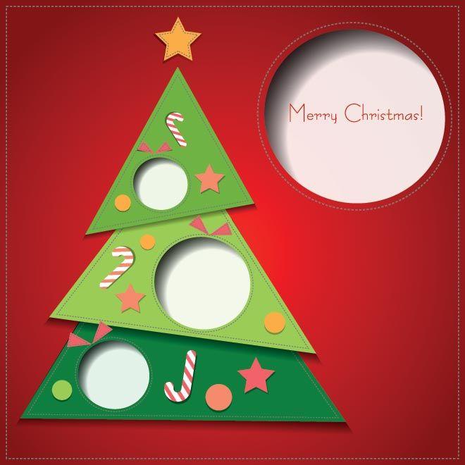 Free vector triangle shape christmas tree merry christmas greeting free vector triangle shape christmas tree merry christmas greeting card template illustration m4hsunfo