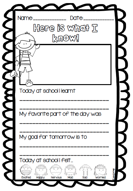 first grade reflection journal a quick and simple independent or guided writing activity that. Black Bedroom Furniture Sets. Home Design Ideas