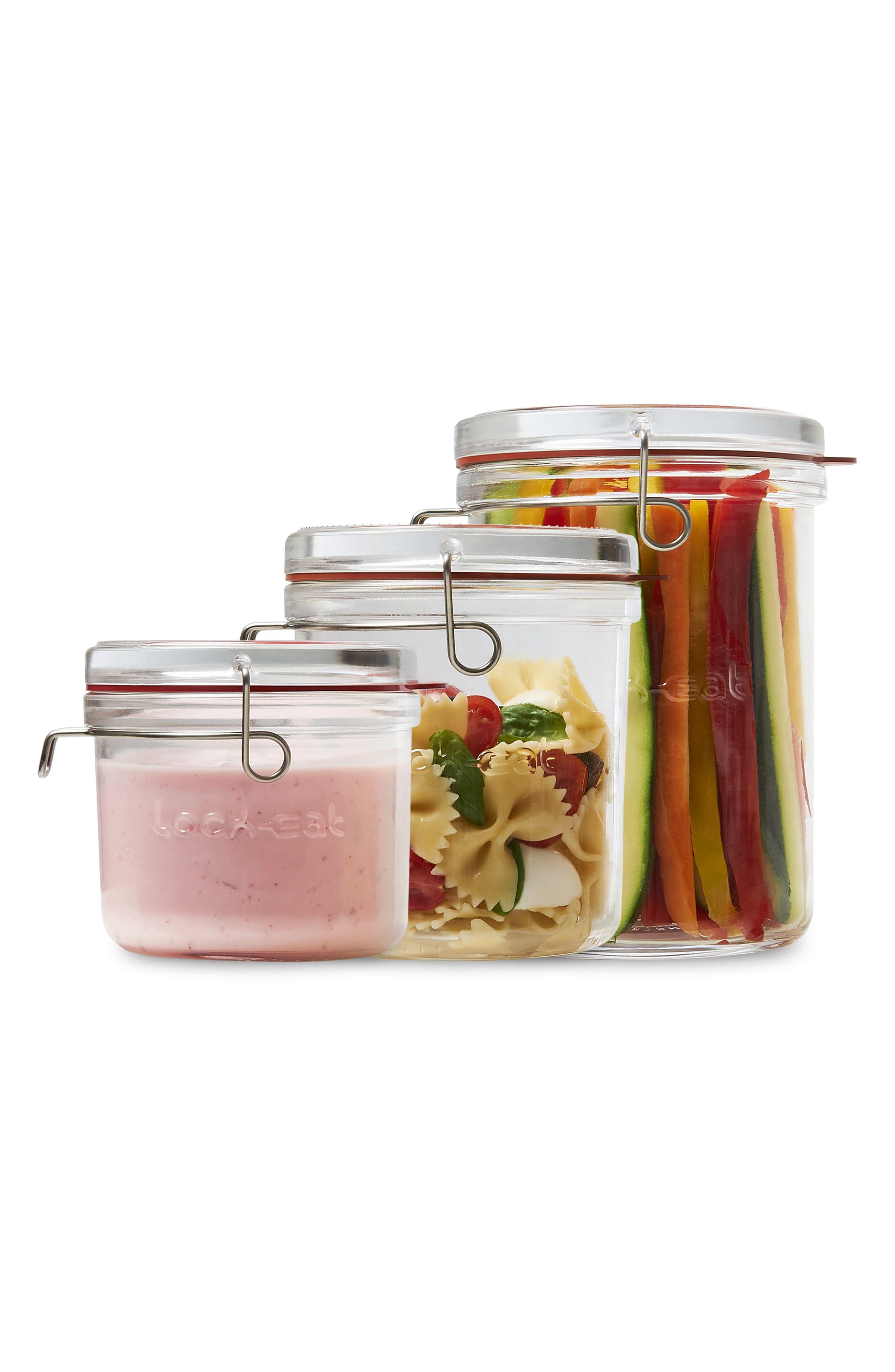 Luigi Bormioli Lock Eat Glass Jars, 3