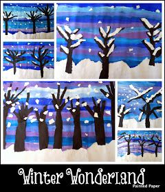 We have been busy creating various winter scenes in our art classroom. One pro...