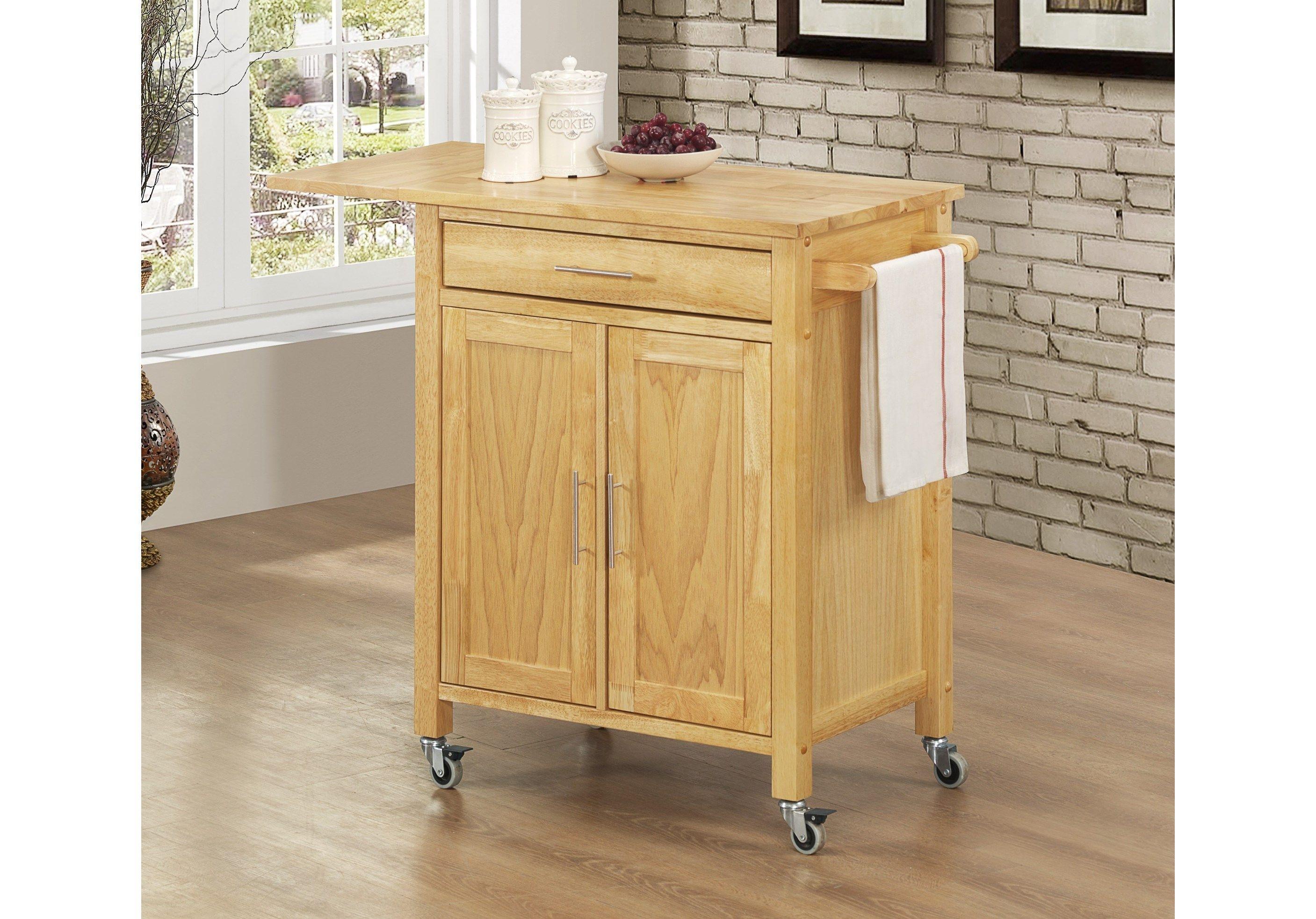 Sunset Trading Natural Vermont Kitchen Cart - GRM-CRT-VER-NN ...