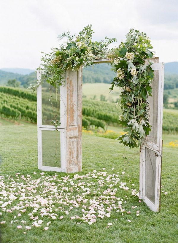 Whimsical outdoor wedding ceremony door backdrop brides of whimsical outdoor wedding ceremony door backdrop brides of adelaide junglespirit Image collections