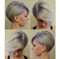 42 photos magnifiques de carré derrière les oreilles ! - Coupe de cheveux (avec images)   Coupe ...