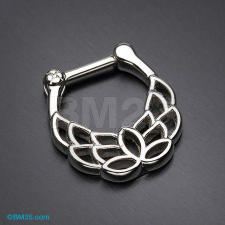 Grand Mandala Lotus Septum Clicker Daith Piercing
