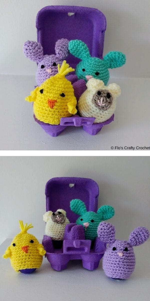 Chocolate Egg Covers Free Crochet Pattern