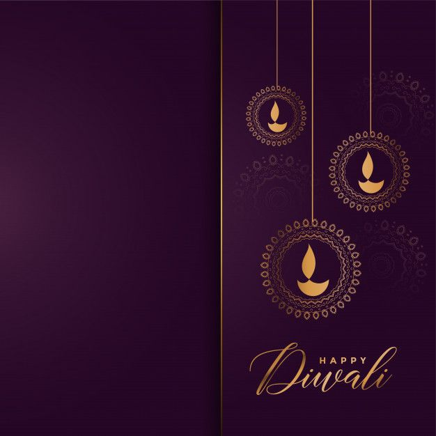 Download Luxury Golden Happy Diwali Greeting Background for free