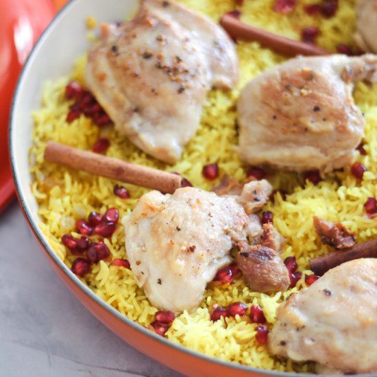 Golden Basmati Rice with Chicken | Recipes, Poultry recipes, Chicken
