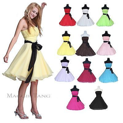 Bridesmaid Wedding Prom Ball Birthday Party Homecoming Cocktail Dress 12 Color