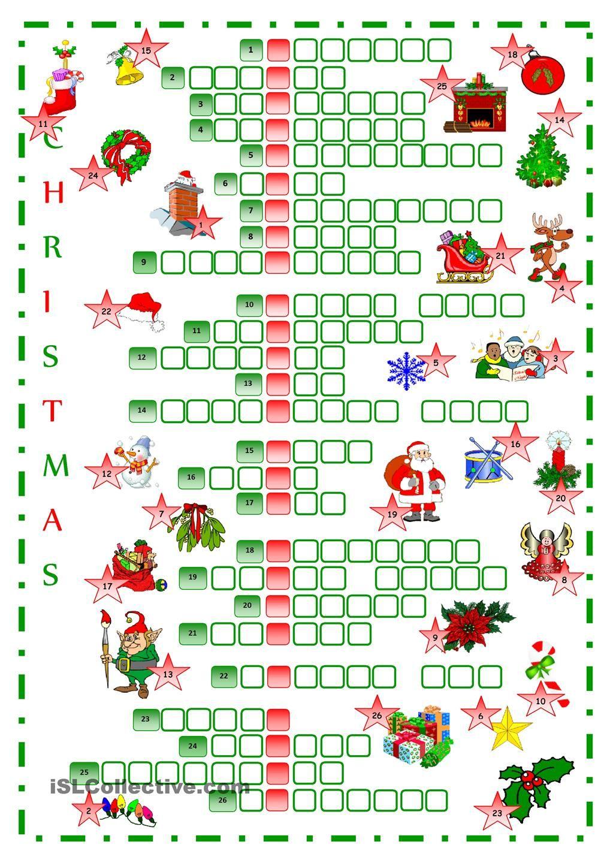 Christmas crossword Christmas crossword, Christmas