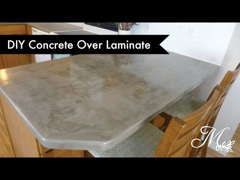 Diy Concrete Over Laminate Countertops Using Feather Finish With
