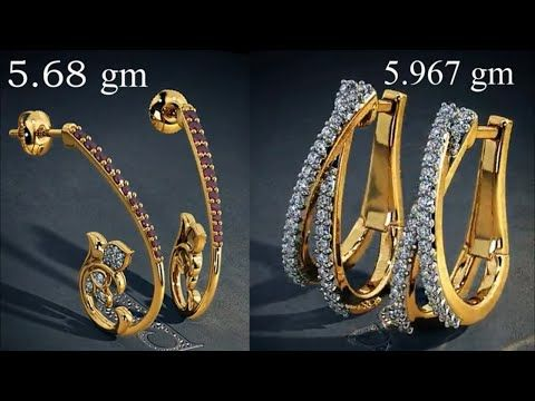 Gold Hoops Earrings Designs With Weight 2018 Stylish Earring Design Collection You