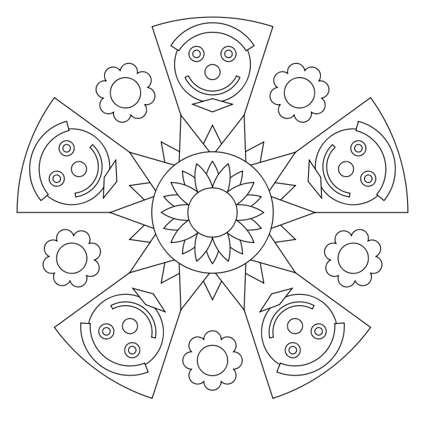 Free Printable Mandala Coloring Pages Mandala Coloring