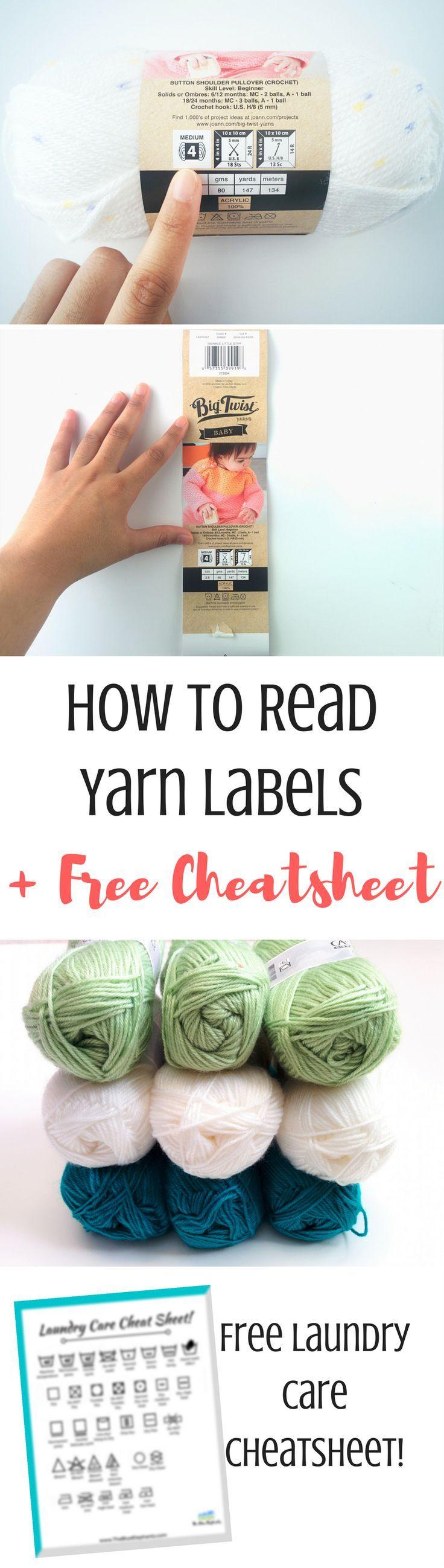 How to read yarn labels laundry symbols yarn knitting