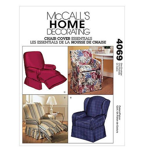 Sew Make Mccall S 4069 Sewing Pattern Recliner Covers Chair