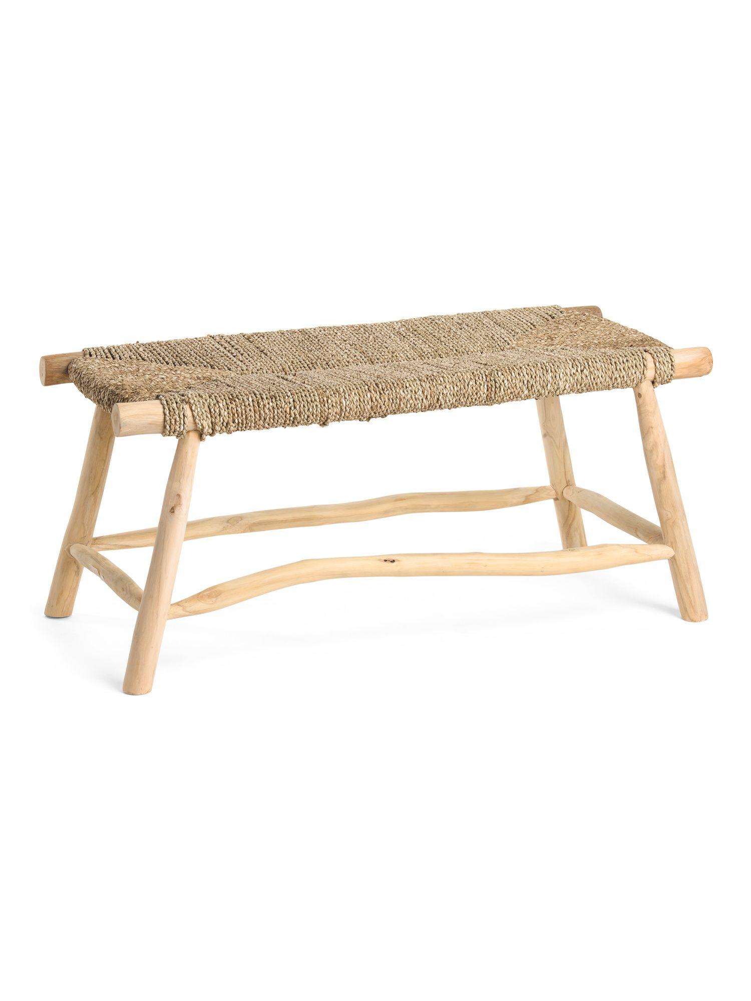 Waverly Seagrass Bench With Teak Legs In 2021 Seagrass Bench Bench Teak [ 2000 x 1500 Pixel ]