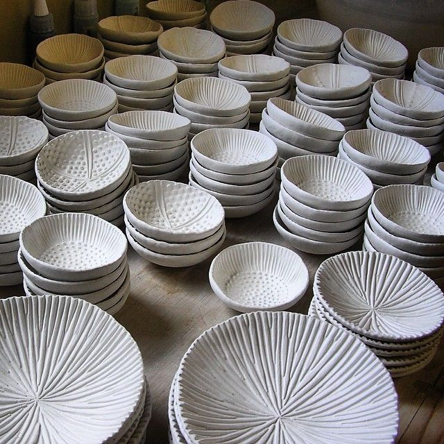 Had quite a hatching of little bowls last week ☀️ #ceramic #ceramics #porcelain…