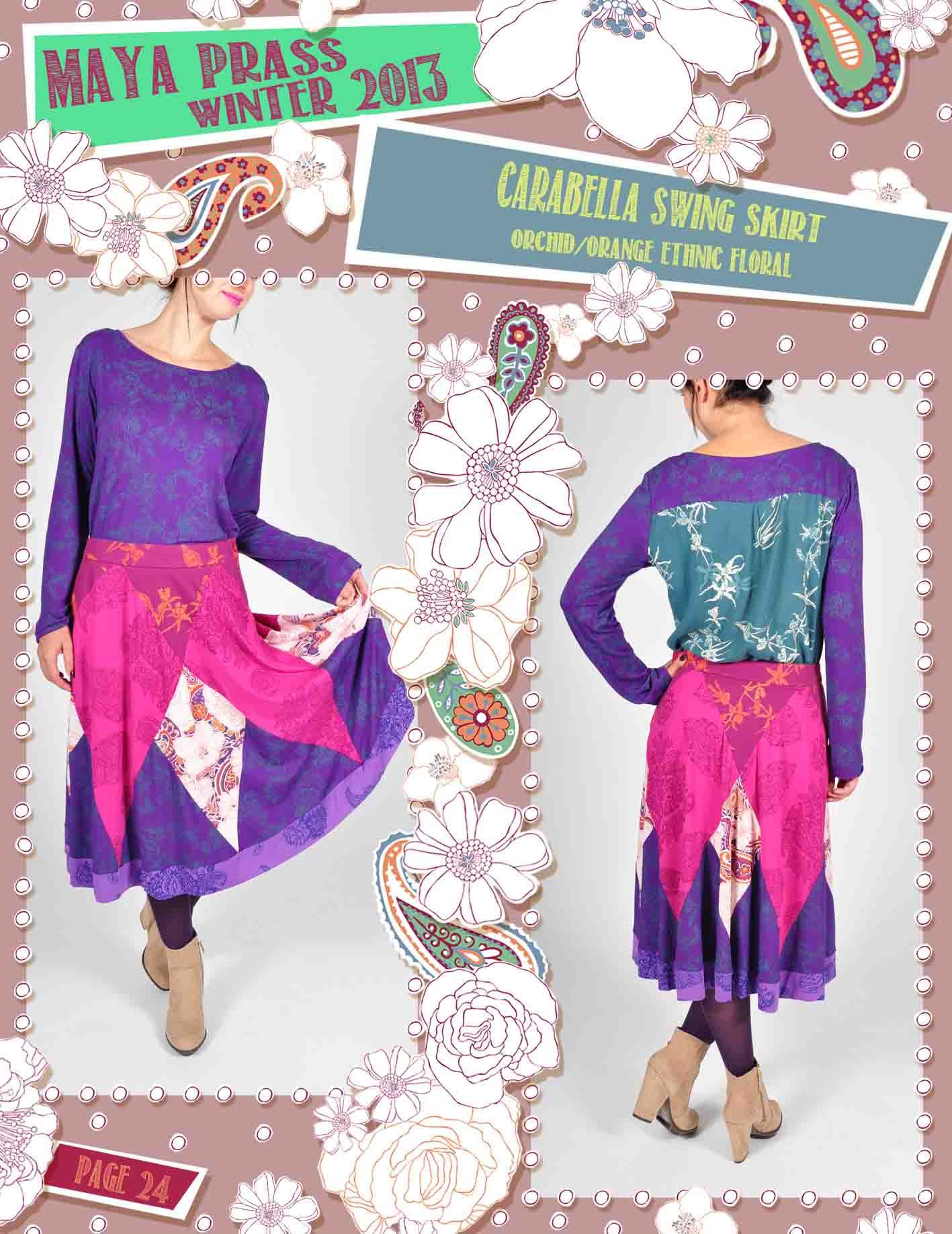 Carabella skirt orchid Ethnic Floral