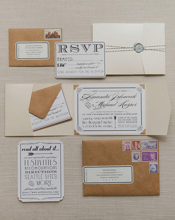 Vintage Glam Wedding Stationery