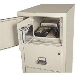 Hidden Burglary Safe In A Fireproof File Cabinet