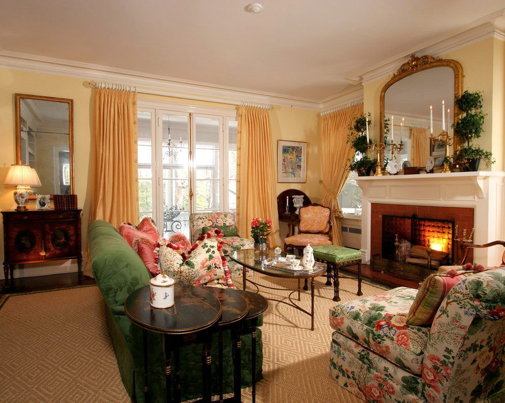 traditional armchairs for living room with navy blue sofa english country interior design lee jofa linen and accent chairs