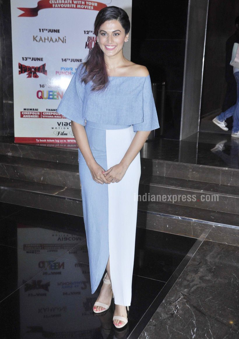 Taapsee Pannu at the unveiling of the 'Tum Ho To Lagta Hai' music video. #Bollywood #Fashion #Style #Beauty #Hot #Sexy