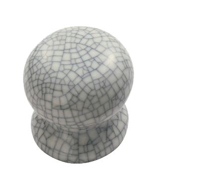 Porcelain Cupboard Knobs (32mm, 36mm Or 45mm), Midnight Crackle ...