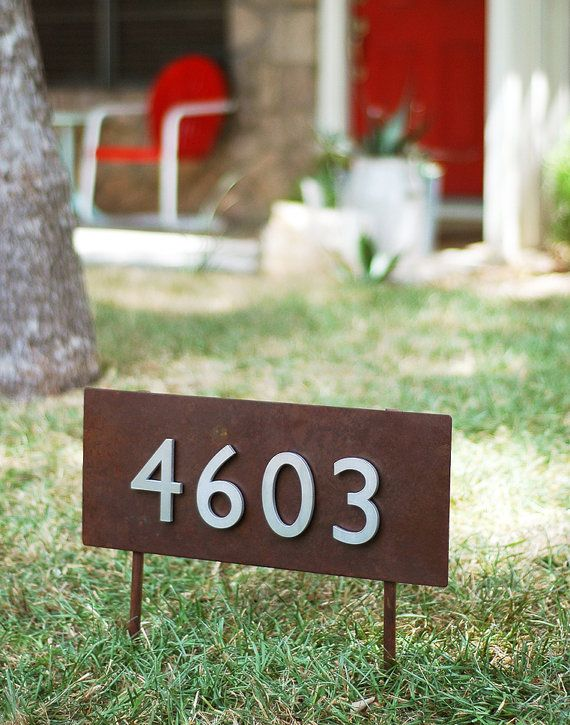 Hickman Yard Sign Sign On Stakes Address Plaque Address Sign