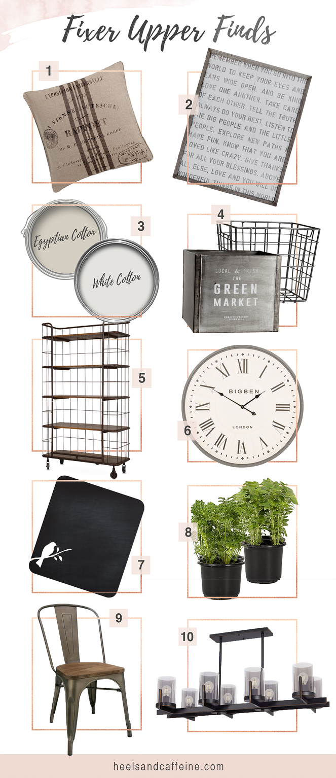 Want to add some Fixer Upper style to your home? We've compiled a list of our favourite farmhouse must-haves for you.