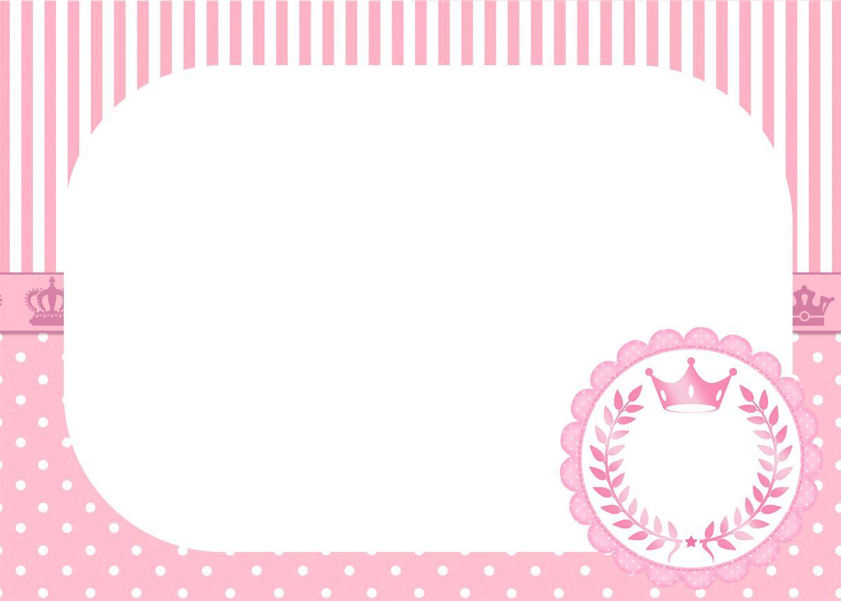 Convite Para Festa Realeza Rosa 2 4th Birthday Printables