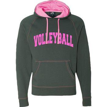 Neon Pink J America Neon Volleyball Hoodie Hoodies Volleyball Hoodie Sweatshirts Online