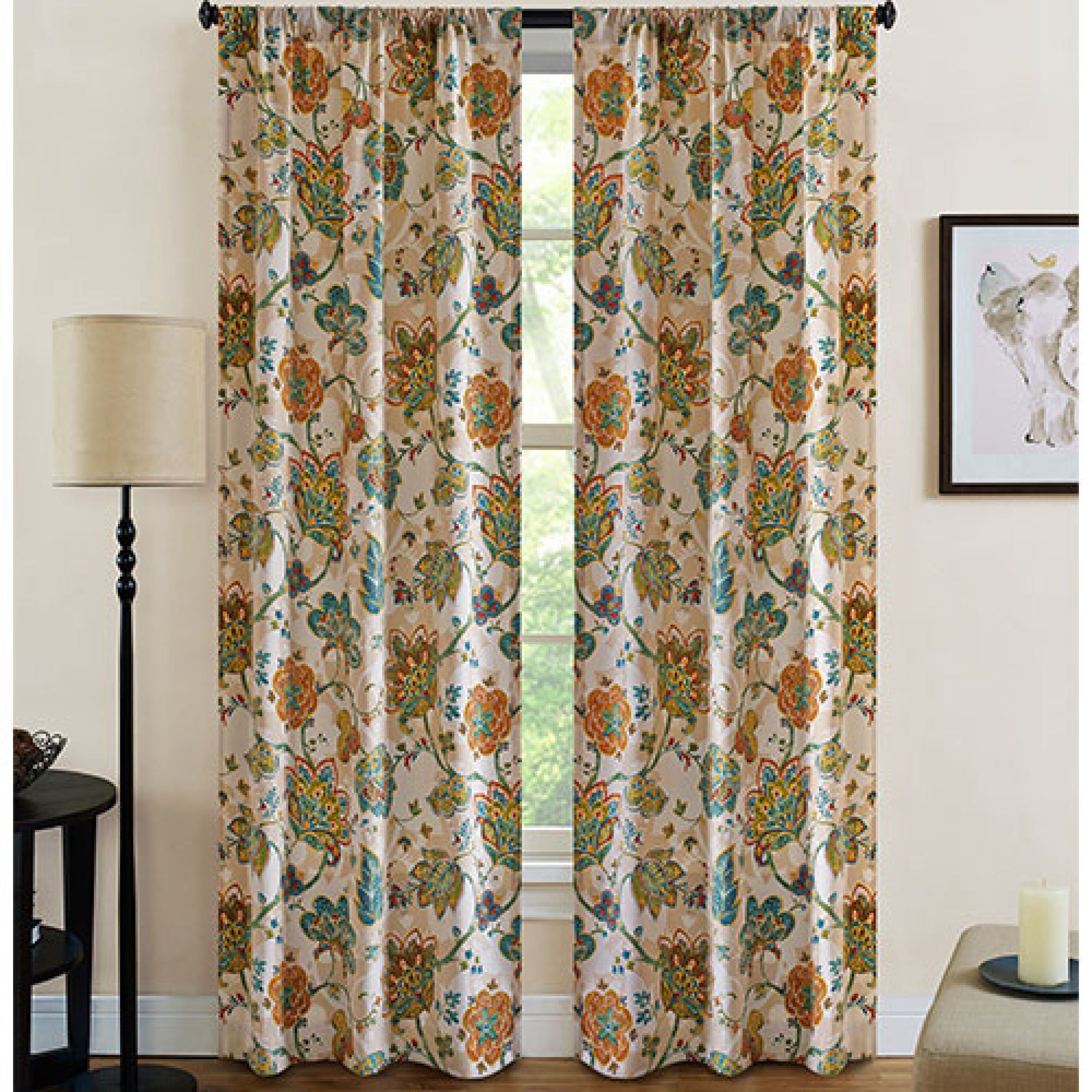 Jubilee Print Rod Pocket Panel Pair Boscov S Panel Curtains