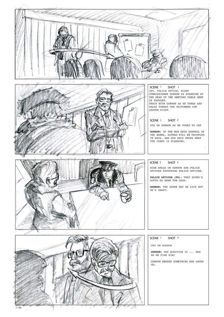 the Dark Knight storyboards Pinterest Storyboard - commercial storyboards