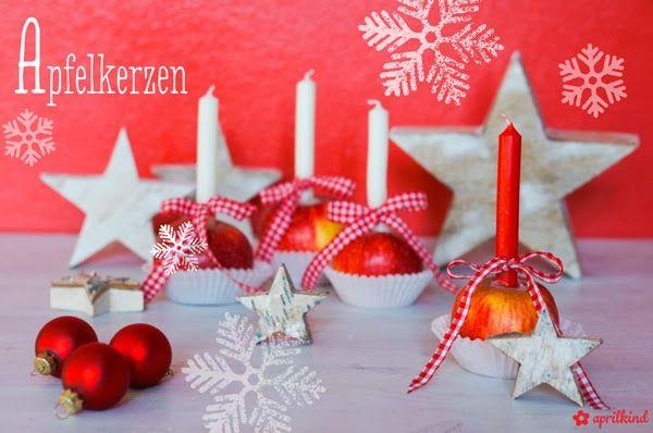 zweimalB :: Weihnachtsgeheimnisse: aprilkind :: ein DIY Tutorial für weihnachtliche Apfelkerzen
